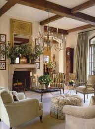country style living rooms with country chandelier and ottoman and