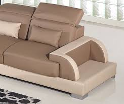 Beige Sectional Sofas Ritz Two Tone Modern Sectional Sofa