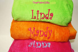 quality personalized towel custom monogrammed towels