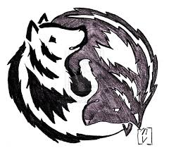 yin and yang wolf by okami365 deviantart com on deviantart