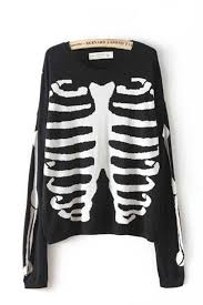add a skeleton sweater 50 quick and easy diy halloween
