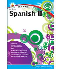 spanish ii workbook grade 6 8 carson dellosa publishing