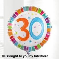 30th birthday balloons delivered birthday gifts delivered throughout poole bournemouth and
