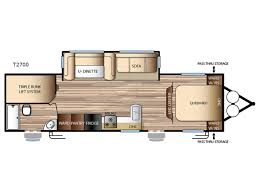 triple bunk travel trailer floor plans evo t2700 travel trailer