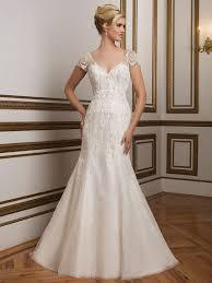 justin alexander 8846 v neck beaded fit and flare bridal dress