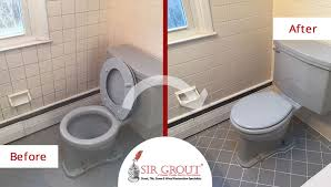 Bathroom Grout Cleaner A Grout Cleaning Service Repaired The Floor And Walls Of This