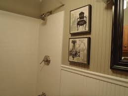 bathroom with wainscoting interesting white vinyl wainscoting