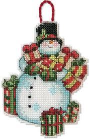 dimensions snowman ornament cross stitch kit 70 08896