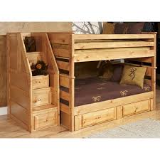 Bunk Beds With Storage Drawers by Furniture Dark Brown Wooden Storage Beds With Drawers And Head