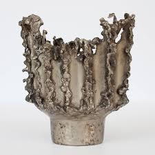 Fantoni Vase Marcello Fantoni Brutalist Welded Metal Vase At 1stdibs