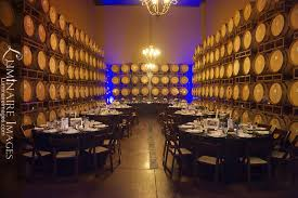 wilson creek winery wedding wine barrel cellar as a reception dinner at wilson creek