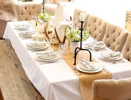 Banquet Table Linen - modern table setting ideas freshome