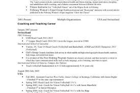 Life Coach Resume Sample by Cv For High Example Of A High Basketball Coach Resume Best