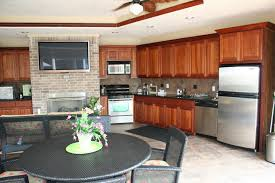 Richards Backyard Solutions by Layout Outdoor Kitchen With Tv Custom Outdoor Kitchen With Hidden