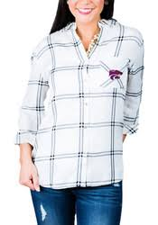 gameday couture k state wildcats womens gingham long sleeve light
