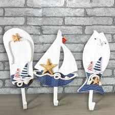 wooden chic nautical decorative hook coat hat clothes hanger door