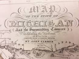 Msu Maps 1850 Cartouche John Farmer Map Library Msu Libraries