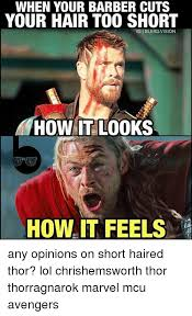 Short Hair Meme - 33 funniest thor ragnarok memes that will make you laugh