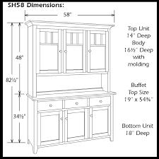Shaker Cabinet Door Dimensions Shaker Impression Three Door Hutch Ohio Hardword Upholstered