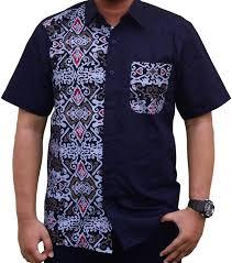 desain baju batik pria 2014 50 gambar kemeja kombinasi batik terbaru yang elegan duabatik com