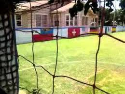 a field turned into a mini soccer stadium youtube