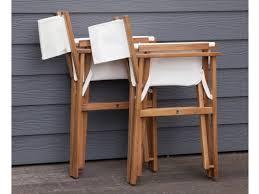chaise metteur en fauteuil metteur en scène en acacia fsc lot de 2 studio