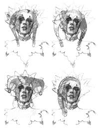 harley quinn sketches video games artwork