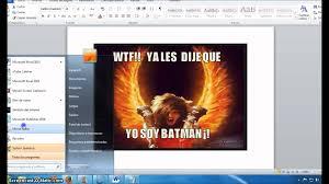 Crear Un Meme - como crear memes con word youtube
