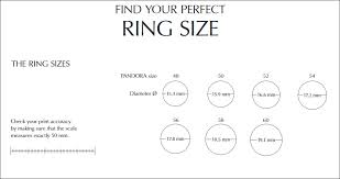 ring size save this pandora ring size guide 5 rings