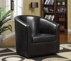 Swivel Living Room Chairs Black Leather Swivel Chairs For Traditional Living Room Design