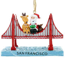with santa on top of golden gate