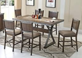 counter height table sets with 8 chairs counter high table and chairs industrial style counter height table