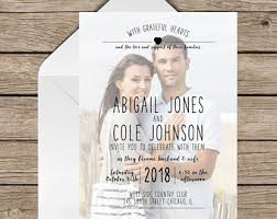 photo wedding invitations wedding invitation etsy