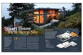 steep hillside house plans smart house for a steep site homebuilding