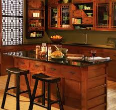 rustic kitchen design with freestanding black granite top kitchen