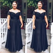 black cap sleeves floor length plus size bridesmaid dress - Plus Size Bridesmaid Dresses With Sleeves