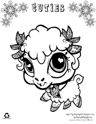 littlest pet shop cuties coloring pages getcoloringpages com