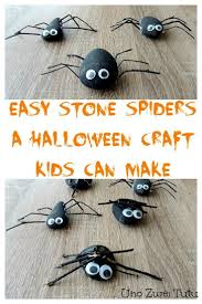 easy stones and sticks spider craft for kids to make spider