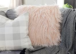 How To Make Sofa Pillow Covers How To Sew A Faux Fur Pillow Cover My Tips For Sewing With Faux