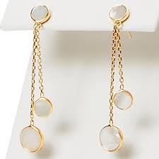 dangle earrings 14k yellow gold of pearl dangle earrings