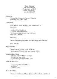 resume for part time job high student resume part time job sle student how make for first high