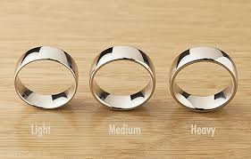 with wedding rings the difference between light medium heavy weight wedding rings