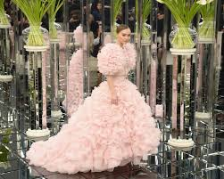 pink wedding dress depp was a blushing in pink chanel couture wedding