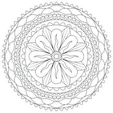 Cool Flower Coloring Pages Flowers And Vegetation Coloring Pages Mandala Flowers Coloring Pages