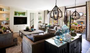 Hamptons Inspired Luxury Family Room Before And After - Family room