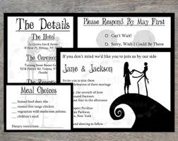 nightmare before christmas wedding invitations nightmare before christmas wedding etsy