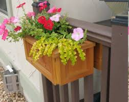 5 pot universal deck rail planter box redwood