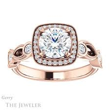 square cut halo engagement rings vintage halo engagement ring setting gtj1201 r gerry the
