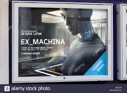ex machina poster poster advertising the ex machina stock photo royalty