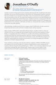 ceo and founder resume samples visualcv resume samples database